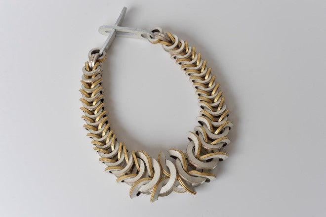 Links leather necklace by Mojiana designs - L'Atelier Natalia Willmott