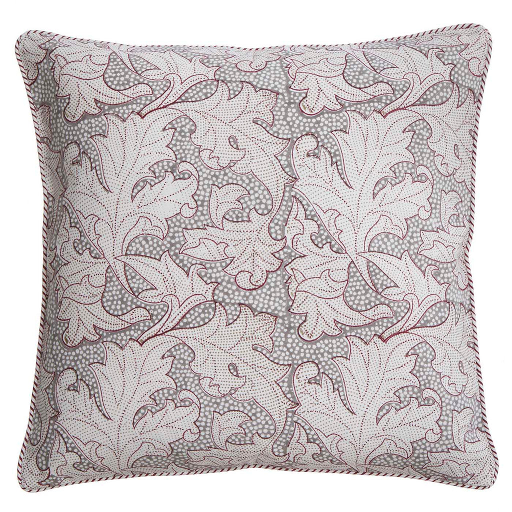 Grey Leaf cushion - L'Atelier Natalia Willmott