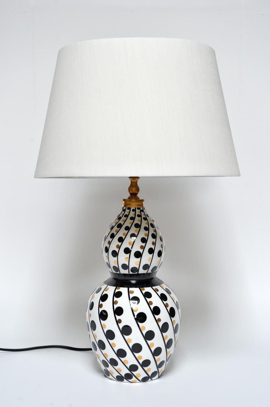 Double gourde porcelain table lamp - L'Atelier Natalia Willmott