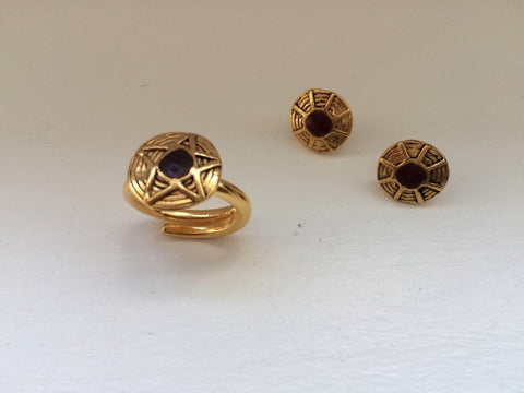Star ring and Sun earrings by Elisabeth Riveiro - L'Atelier Natalia Willmott