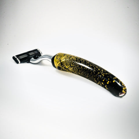 "Glass razor ""Gold leaf"" - L'Atelier Natalia Willmott"