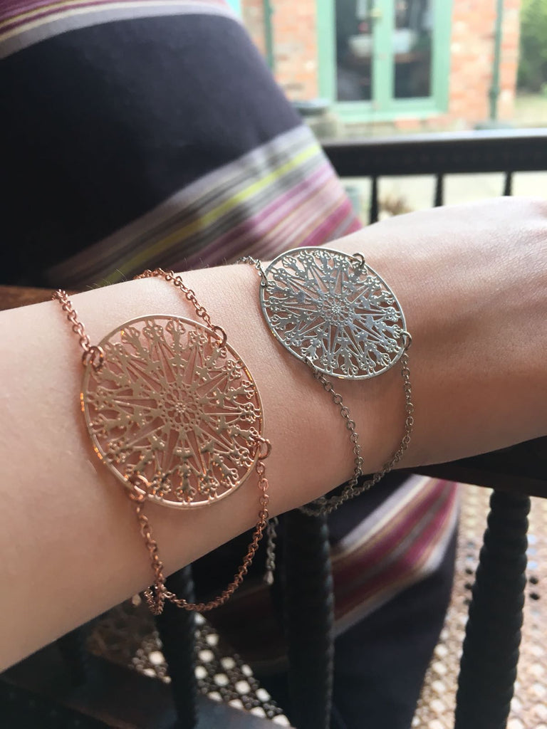 Rose gold or silver fine bracelet