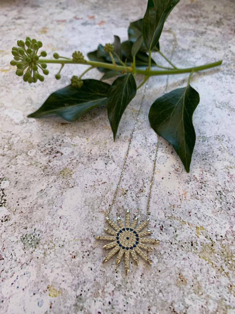 Silver and various crystal star necklace - L'Atelier Natalia Willmott