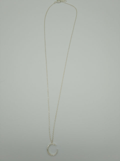 Crescent sterling silver pendant necklace - L'Atelier Natalia Willmott