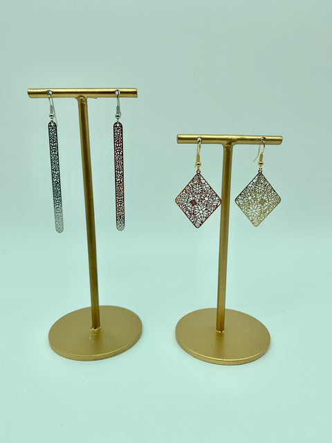 Laser cut earrings - L'Atelier Natalia Willmott