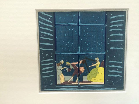 Art Deco Pochoir Christmas card - Window - L'Atelier Natalia Willmott