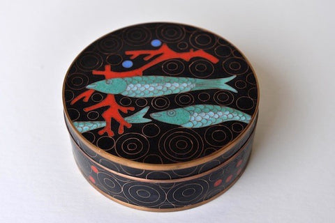 Fish cloisonné box - L'Atelier Natalia Willmott