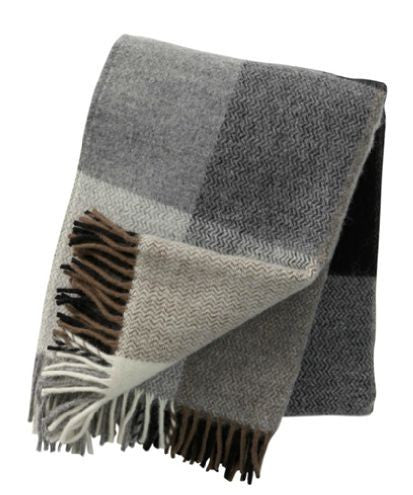 Lambs wool throw / blanket - Grey - L'Atelier Natalia Willmott