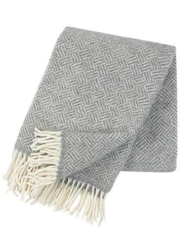 Lambs wool throw / blanket - Samba Grey - L'Atelier Natalia Willmott