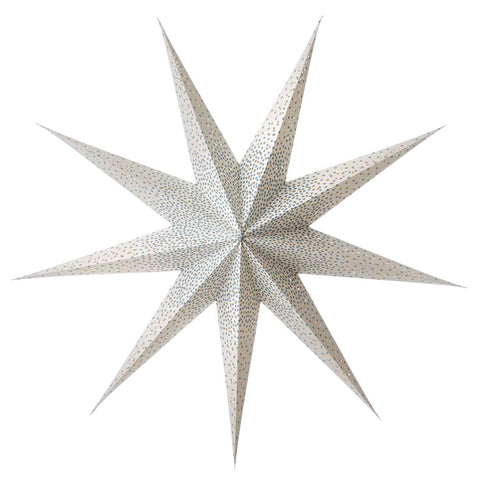 Large paper star with blue speckles - L'Atelier Natalia Willmott