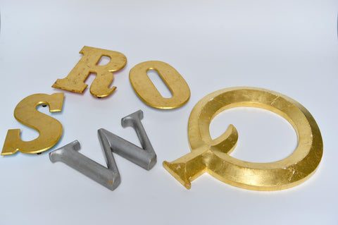 Gold distressed style vintage letters - L'Atelier Natalia Willmott