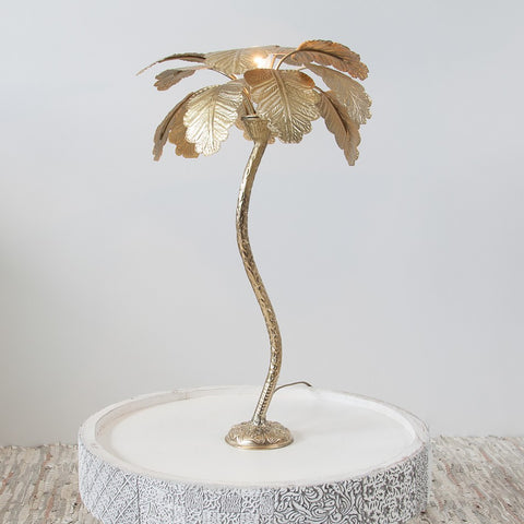 Gold palm tree table lamp - L'Atelier Natalia Willmott