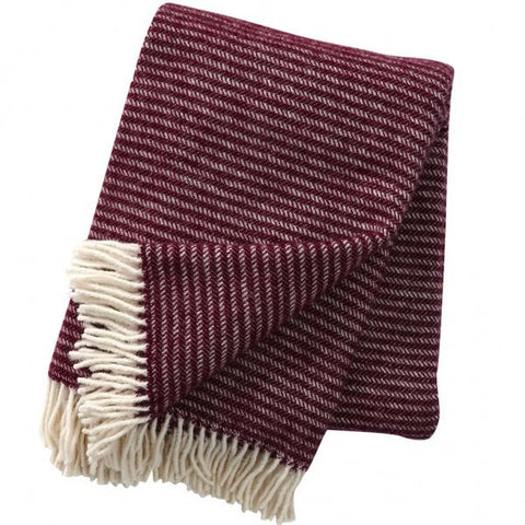 Ralph Aubergine wool throw / blanket - L'Atelier Natalia Willmott
