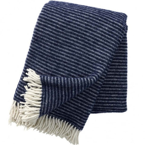 Ralph Navy wool throw / blanket - L'Atelier Natalia Willmott