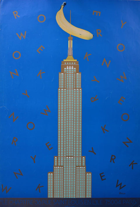 New York and King Kong poster - L'Atelier Natalia Willmott