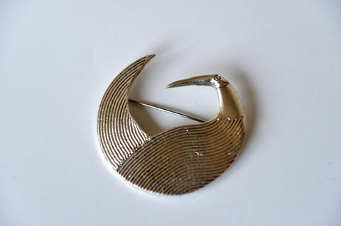 Ibis brooch in silver by Elisabeth Riveiro - L'Atelier Natalia Willmott