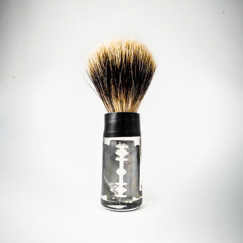 "Glass shaving brush ""Blade"" - L'Atelier Natalia Willmott"