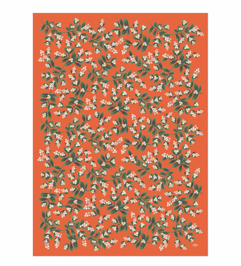 Single mistletoe wrapping sheet - L'Atelier Natalia Willmott