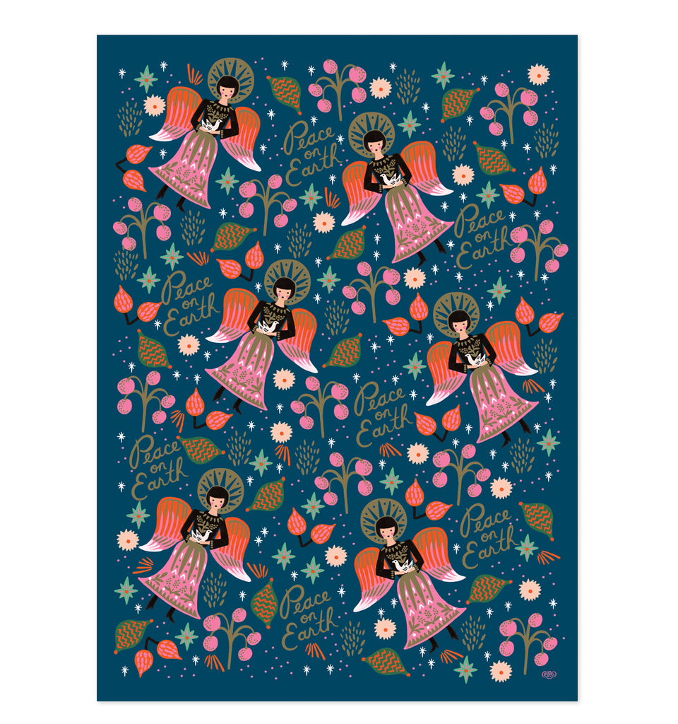 Peace on earth wrapping sheet - L'Atelier Natalia Willmott
