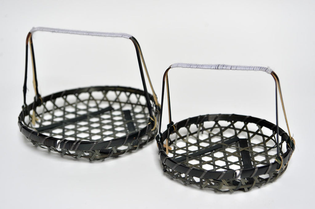 Black bamboo baskets with handle - L'Atelier Natalia Willmott