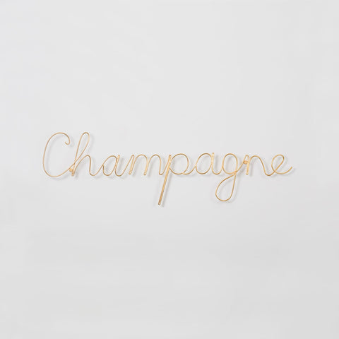 "Gold ""champagne"" wire word - L'Atelier Natalia Willmott"