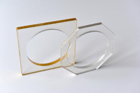 Eternity hexagon & square bangle - L'Atelier Natalia Willmott