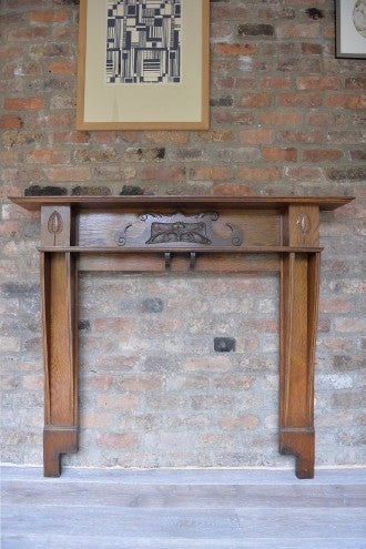 Oak Art Nouveau Fireplace - L'Atelier Natalia Willmott