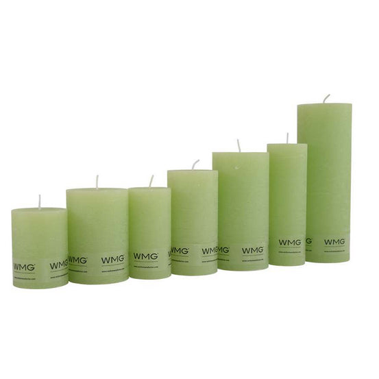 Light green rustic candle - L'Atelier Natalia Willmott