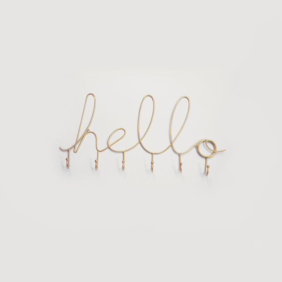 Hello Wire Hooks - Gold - L'Atelier Natalia Willmott