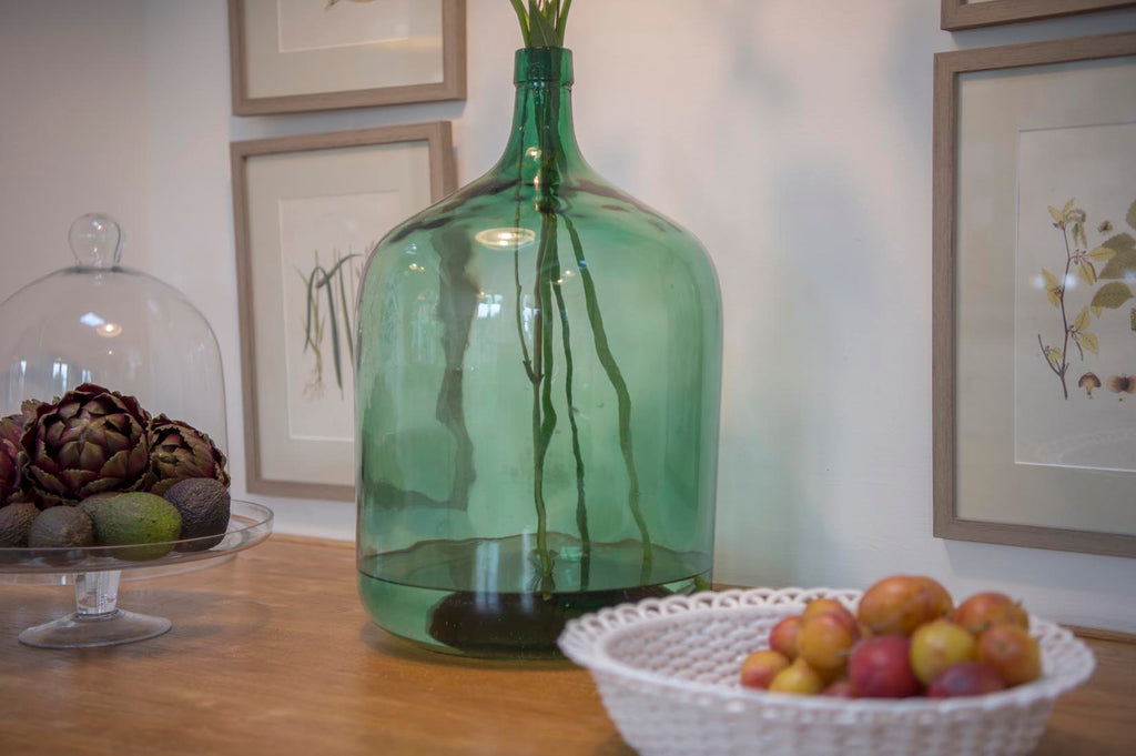 Vintage green glass carboy - L'Atelier Natalia Willmott