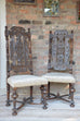 Pair of 19th high backed side chairs - L'Atelier Natalia Willmott