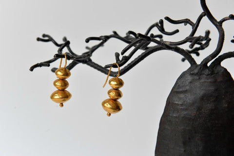 Russie trio beads earrings by Elisabeth Riveiro - L'Atelier Natalia Willmott