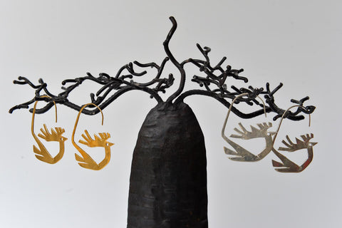 Stylised Stag earrings by Elisabeth Riveiro - L'Atelier Natalia Willmott