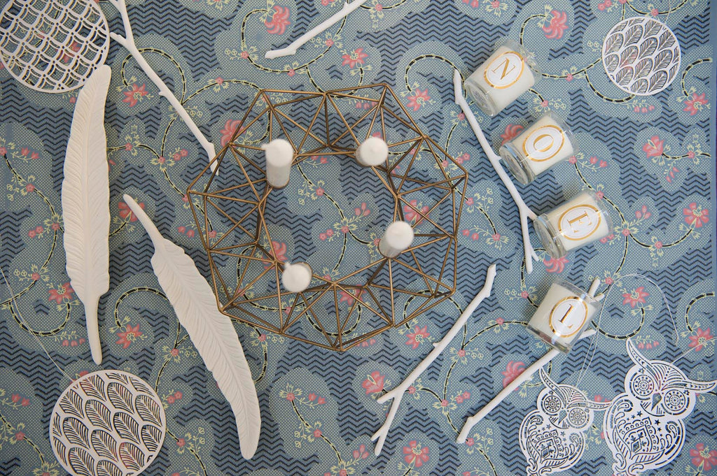 Geoemtric star shaped  candleholder - L'Atelier Natalia Willmott