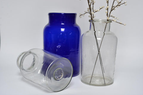 Blue or transparent glass jar - L'Atelier Natalia Willmott