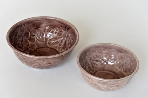 Enamelled grey bowls pair - L'Atelier Natalia Willmott