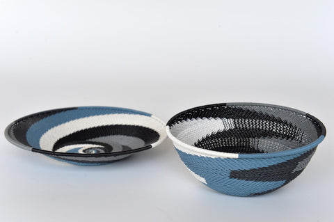 Zulu plate and round deep bowl - L'Atelier Natalia Willmott