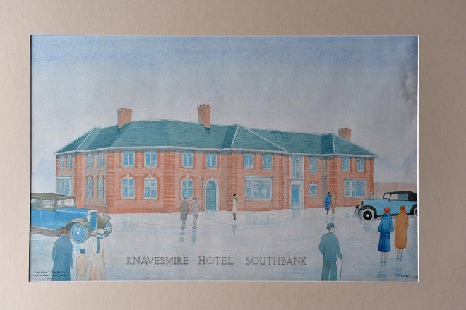 1930's Prospect watercolour for Knavesmire Hotel - L'Atelier Natalia Willmott