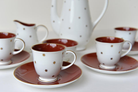 Susie Cooper 2 bone china coffee cups with stars