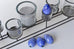 Blue and white glass eggs - L'Atelier Natalia Willmott