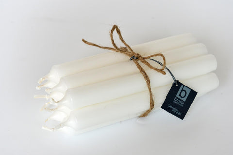 Set of 10 white candles - L'Atelier Natalia Willmott