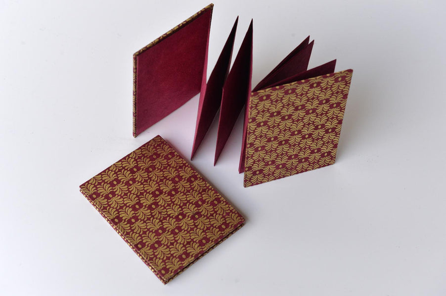 Accordion notebook-hand made paper - L'Atelier Natalia Willmott