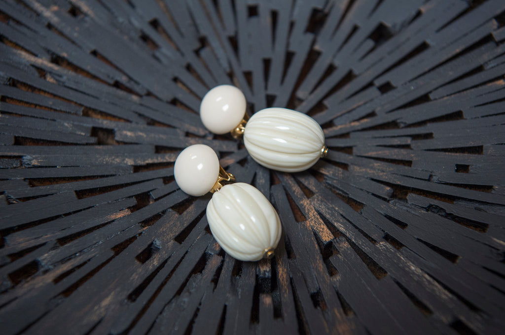 Boule earrings vanilla - L'Atelier Natalia Willmott