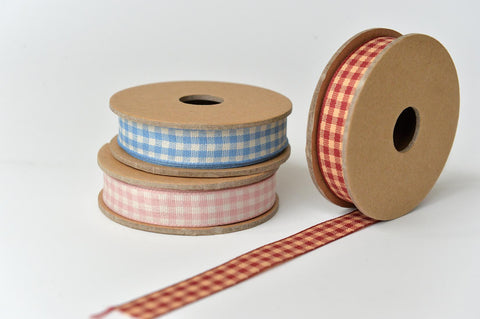 Gingham cotton ribbon - L'Atelier Natalia Willmott