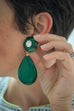 Green Plexiglas Christian Lacroix vintage clip on earrings