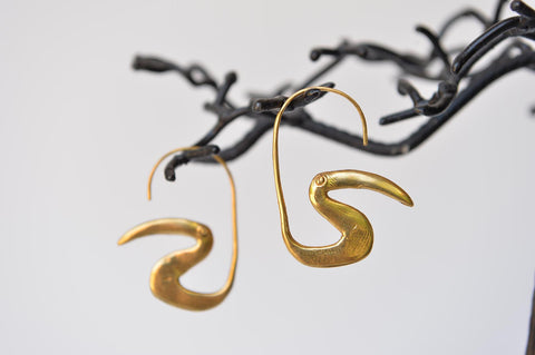 Toucan earrings by Elisabeth Riveiro