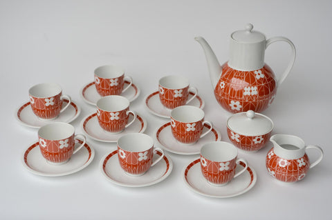 Porcelain coffee set by Heinrich Löffelhardt
