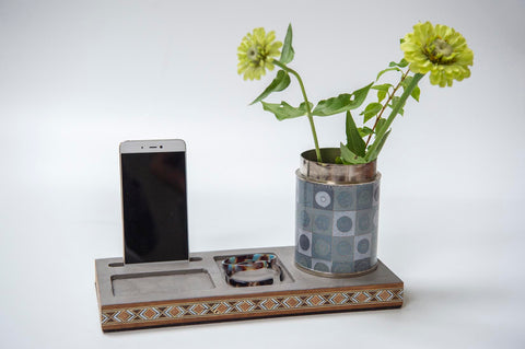 Desk Organizer with Marquetry - L'Atelier Natalia Willmott