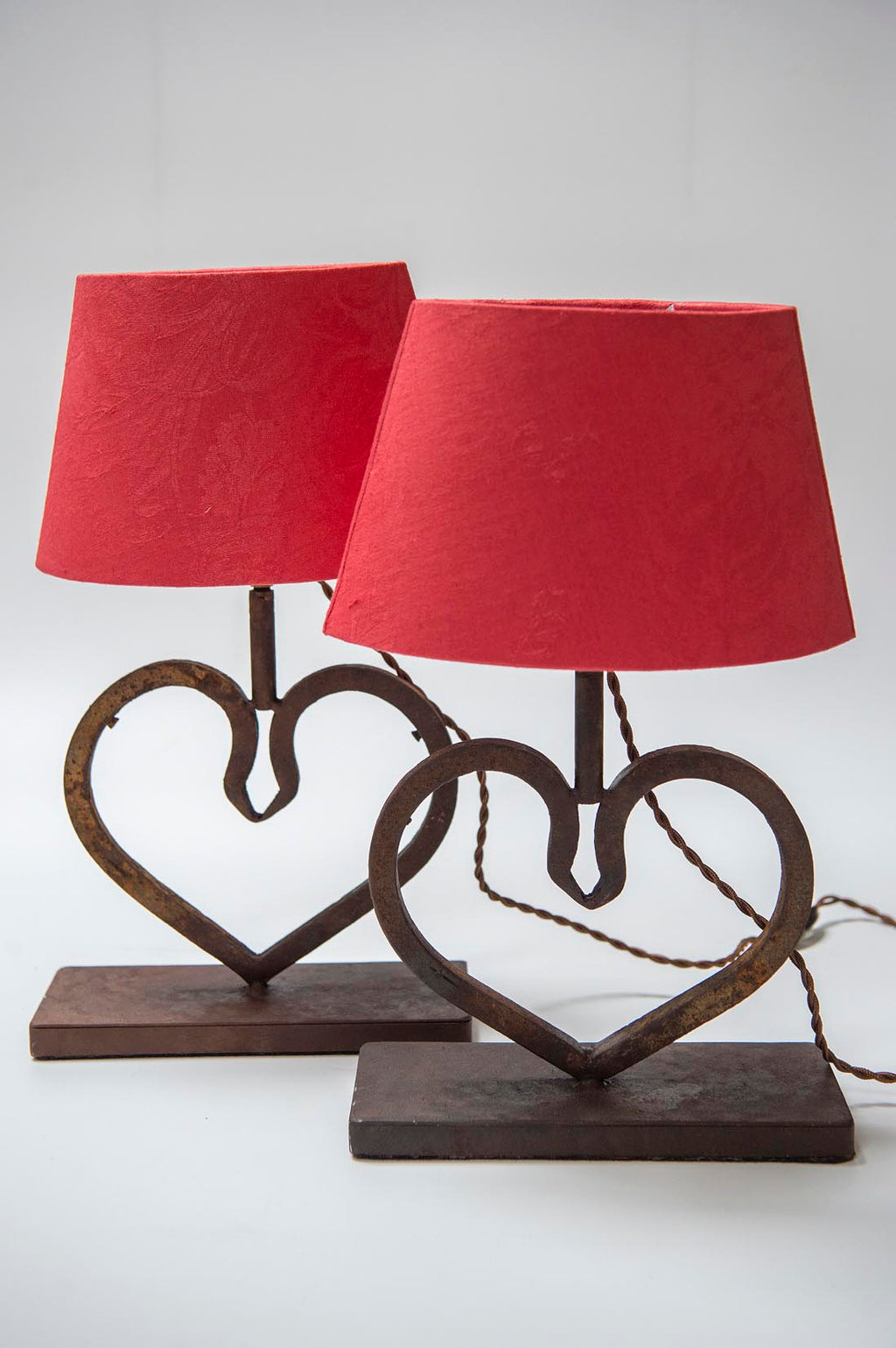 Heart - wrought iron lamp - L'Atelier Natalia Willmott