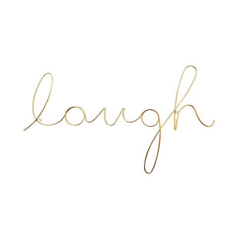 "Gold ""laugh"" wire word - L'Atelier Natalia Willmott"